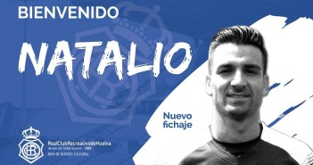 Natalio, nuevo futbolista del Recreativo de Huelva.