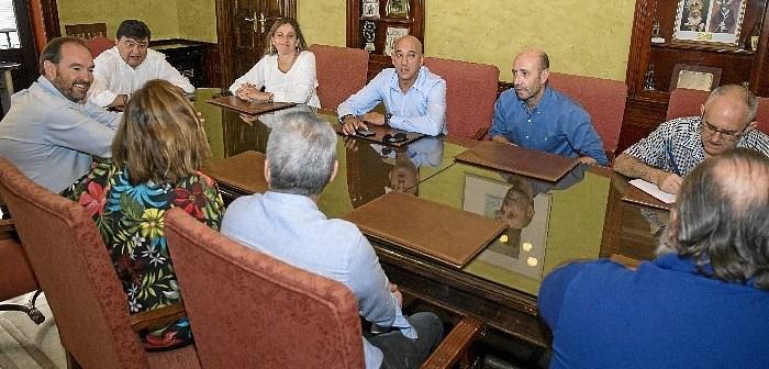 Reunión representantes sindicatos