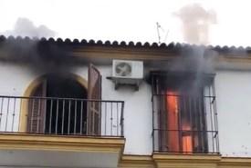 Incendio en casa de Lepe