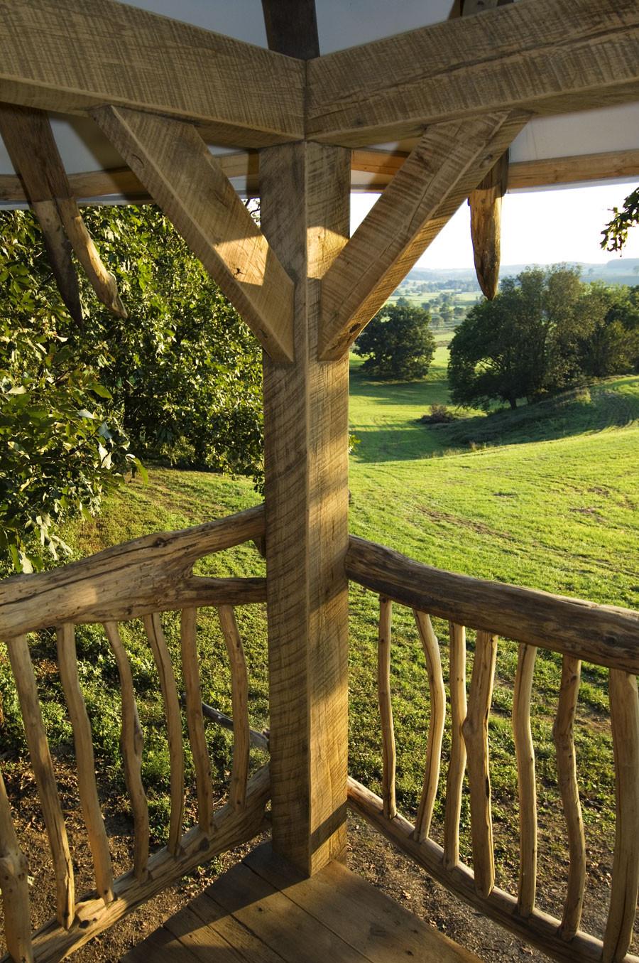 Hugh Lofting Timber Framing Tree House