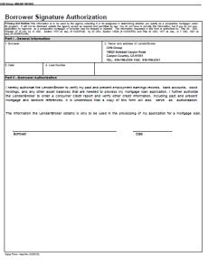 Borrower Authorization