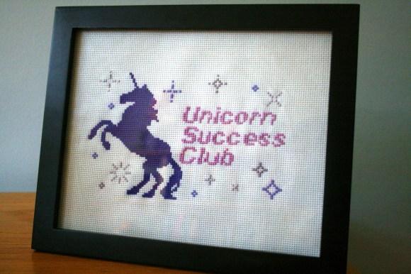 Unicorn Success Club Cross Stitch from Hugs are Fun