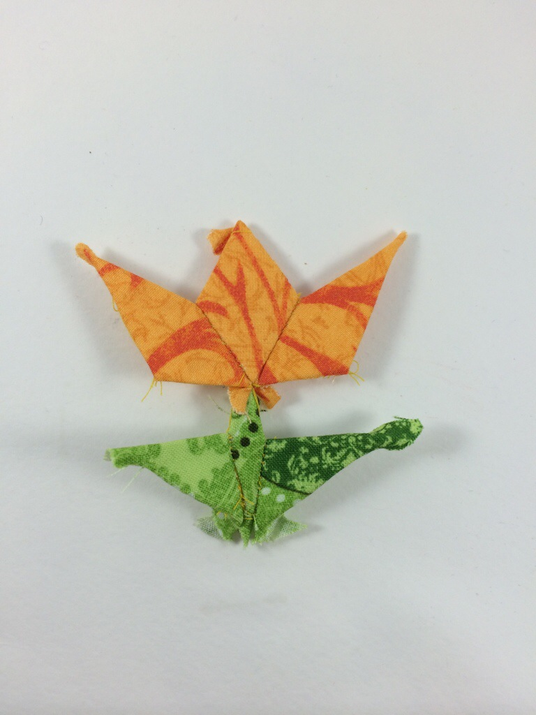 English Paper Pieced Tulip by Hugs are Fun