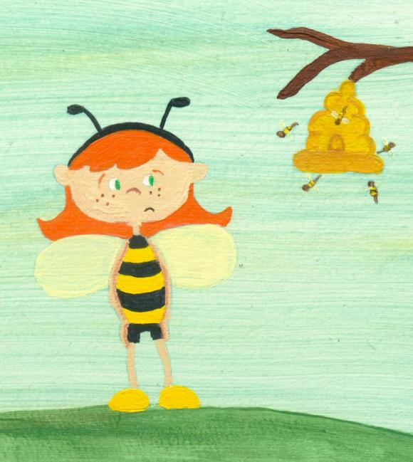 Bee Girl Illustration by Hugs are Fun