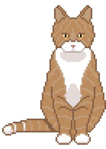 Free Cat Cross Stitch Pattern from Hugs are Fun