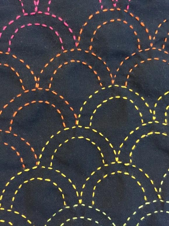 February TSNEM - Sashiko Embroidery from Hugs are Fun
