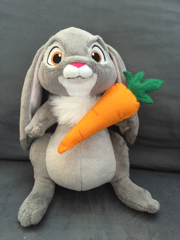 Felt Plush Carrot Pattern from Hugs are Fun