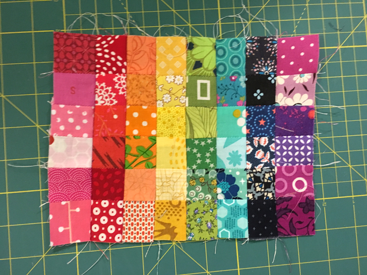 No Scrap Left Behind - How to Make a Patchwork Panel from Hugs are Fun