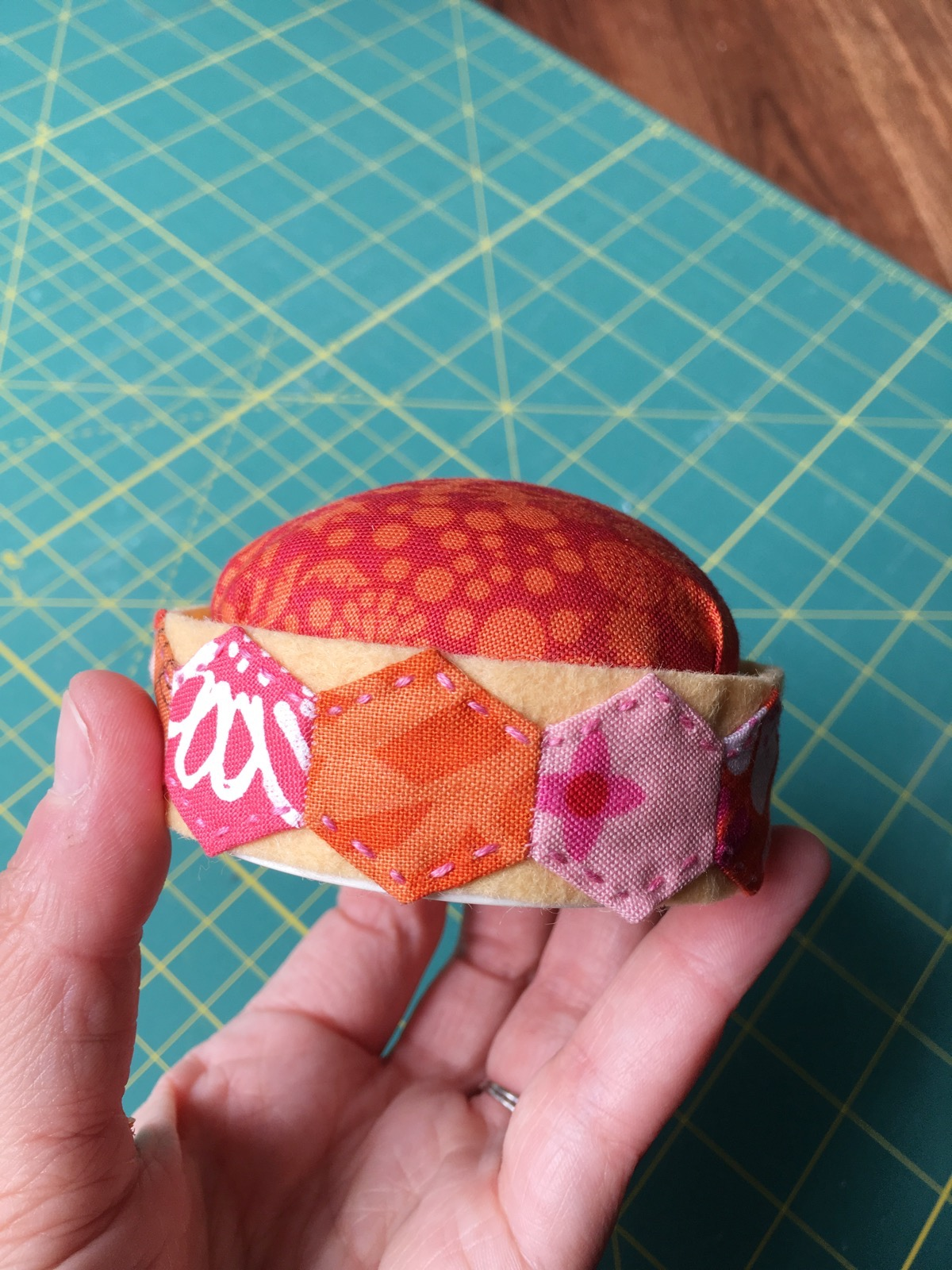 Hexie Pincushion at Clover from Hugs are Fun
