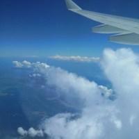 飛行機からのフィリピン上空の景色