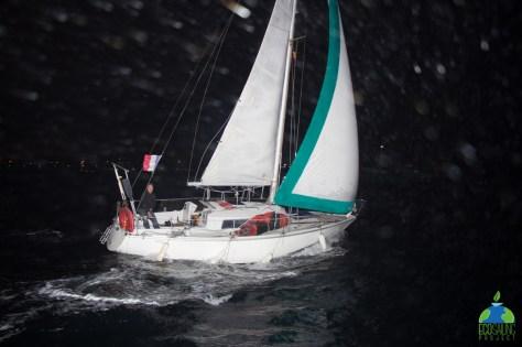 Poker d'AS de nuit ! Photo prise par d'autres navigateurs : projet Eco-Sailing-Project !