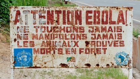 Pancarte de prévention contre Ébola
