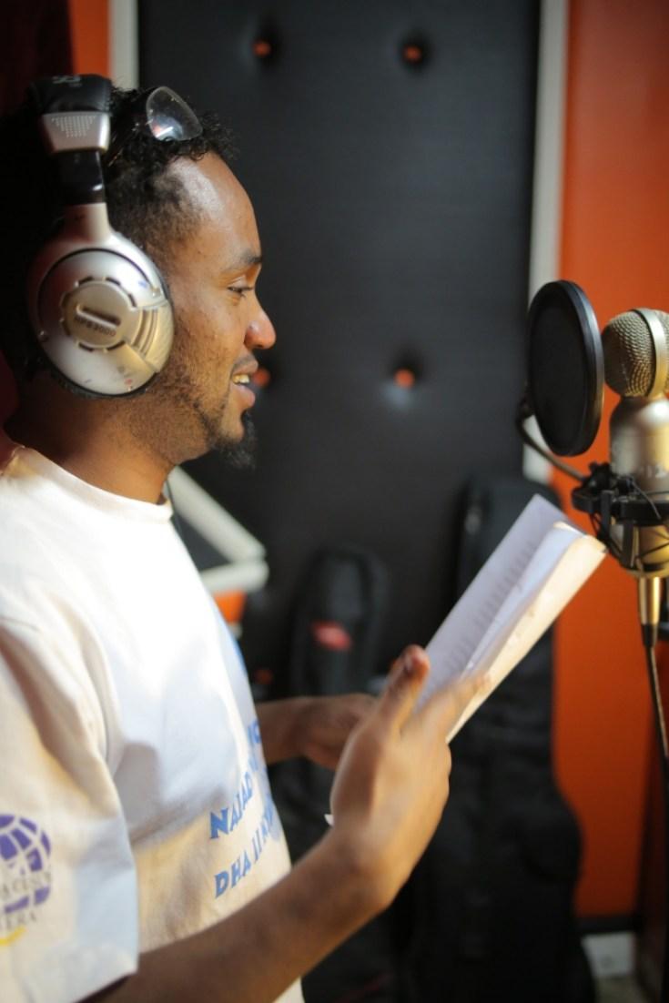 LFM 1.05- Burhan Ahmed Yare in studio. Photo by Humanitarian Bazaar.