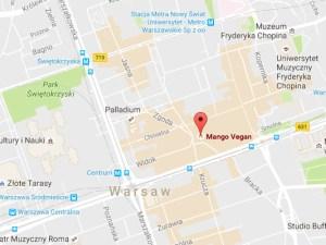 חומוס מנגו בוורשה, Google maps