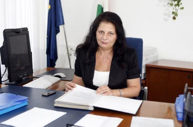 Ildikó Vida at her desk