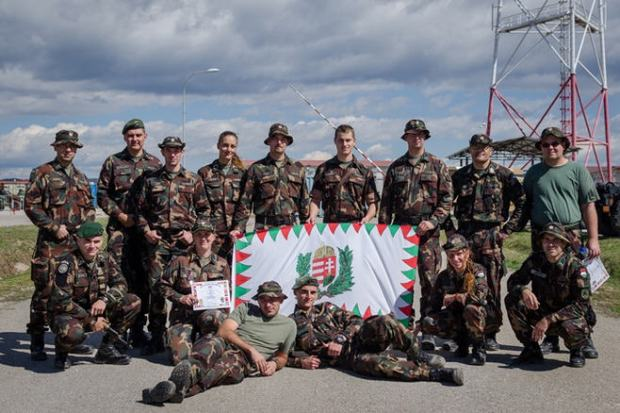 Hungarian soldiers on peace mission