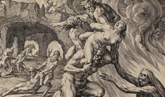 Johannes Sadeler, Hell, 1590