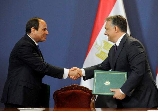Abdel Fattah Saeed Hussein Khalil el-Sisi and Viktor Orbán / Photo Zoltán Máthé ?MTI