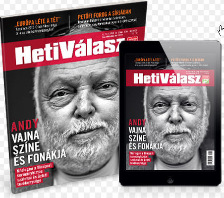 Heti Válasz only last week published a very critical article about Andy Vajna's  financial affairs