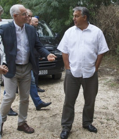 Viktor Orbán arrives in Kötcse, September 5, 2015 / MTI / Photo György Varga