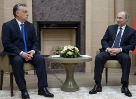 Putin and Orban, Moscow