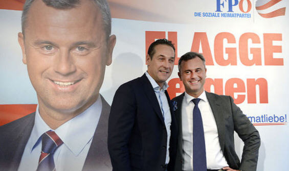 Heinz -Christian Strache and Norbert Hofer before the presidential elections / Photo APA / Hans Klaus