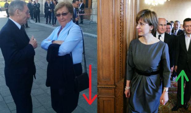 Mrs. László Németh and her replacement, Andrea Bártfai-Mager / Source: 444.hu