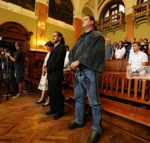 György Budaházy waiting for the verdict Source Népszabadság / Photo: Imre Földi