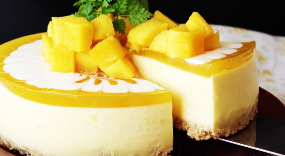 Mango Cheesecake Via TasteMade, No Bake Required !!!