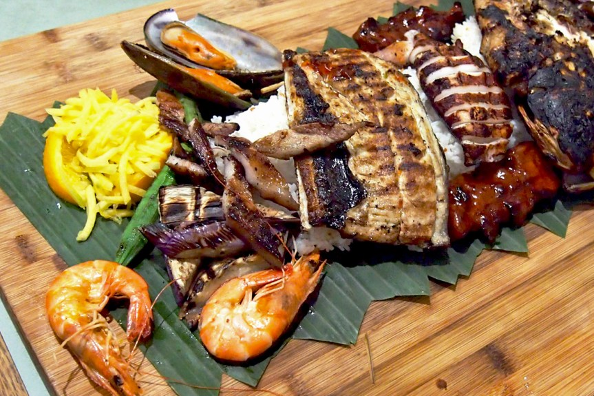 A kamayan feast for two.
