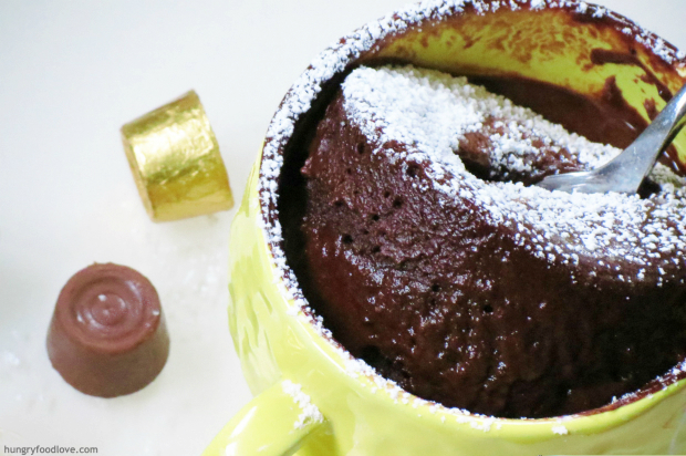 One Minute Chocolate Molten Cake