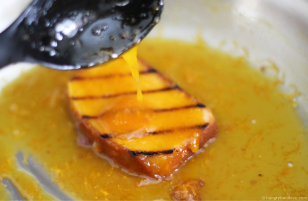 Pound Cake Suzette - with Butter Orange Sauc