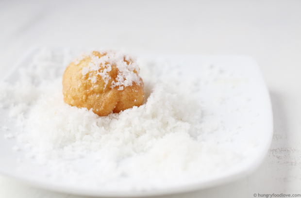 Coconut Buñuelos Puffs - Light, airy and super delicious