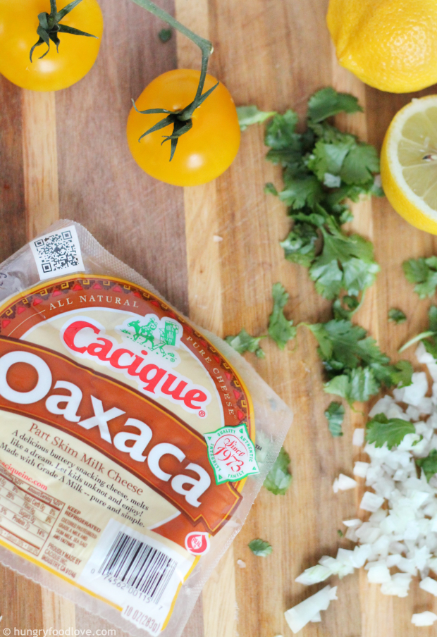 Cheesy Fresh Tomato Squares using Cacique Oaxaca Cheese #GoAuténtico #ad
