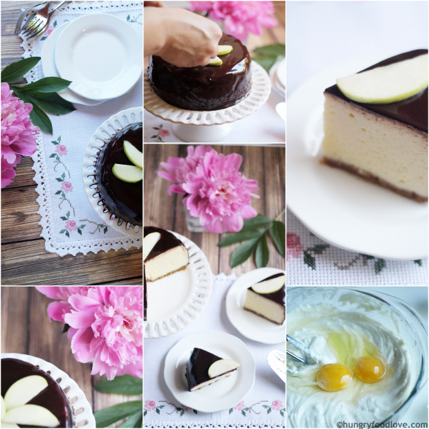 Chocolate Covered Cheesecake - Deliciously easy chocolate ganache