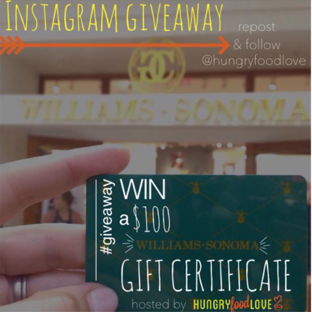 Instagram Giveaway       hungryfoodlove.com