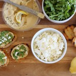 Lemon Hummus Crostini