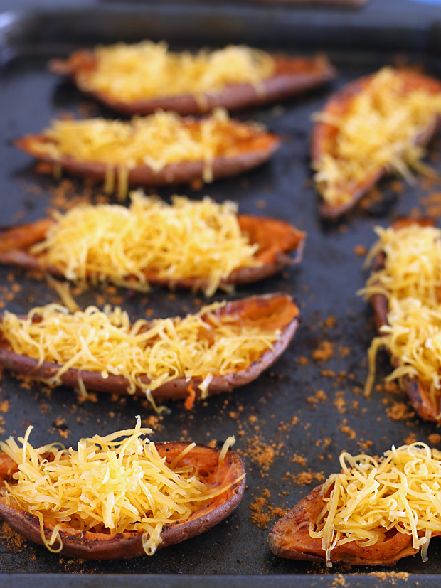 Taco Stuffed Sweet Potato Skins | @hungryfoodlove