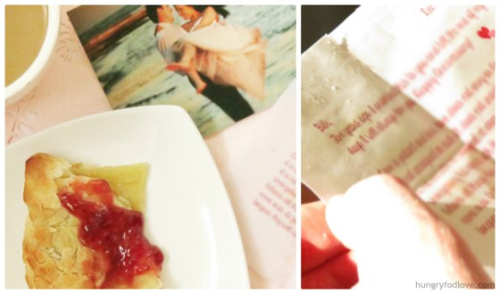 Cute Valentine Idea: edible pastry envelope by www.hungryfoodlove.com