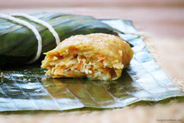 Pasteles en Hoja Dominican Tamales from hungryfoodlove.com