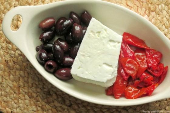 Baked Feta Mediterranean Dip by hungryfoodlove.com