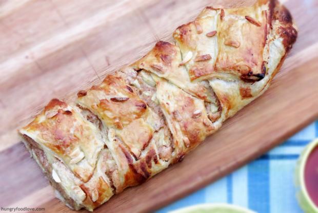 Almond & Apples Ricotta Danish - Perfect Breakfast!