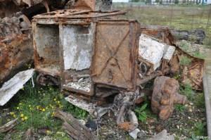 Un chariot hippomobile qui servait à transporter du matériel radio.