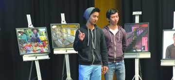 Students present digital stories in showcase