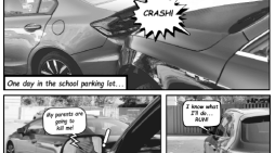 Crashes in Student Parking Lot