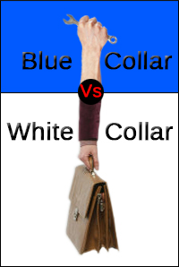 Difference between blue and white collar workers