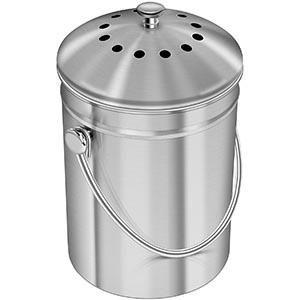 #1 Utopia Premium Stainless Steel Kitchen Compost Bin