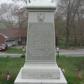 Walter Palmer – Founder's Monument located in Wequetetock Cemetery, Stonington, Connecticut