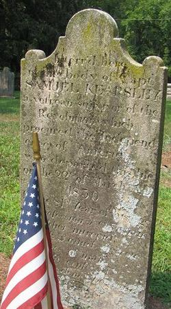 Capt. Samuel Kearsley (1750-1830) - grave market at Middle Spring Cemetery, Shippensburg, Pennsylvania (photo credit: Blyden)