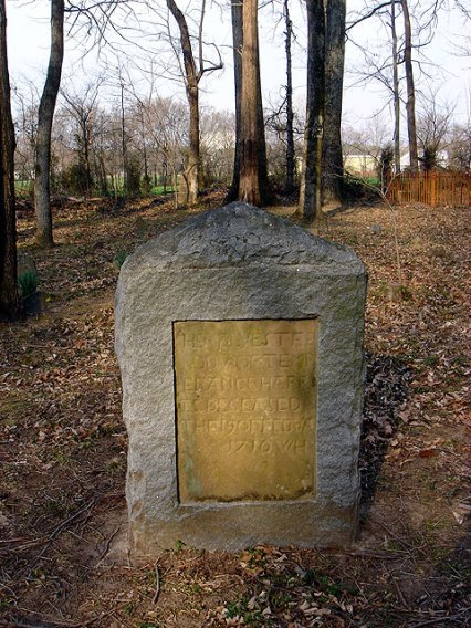 Grave of Temperance Overton Harris - east side of granite restoration stone (15 Mar 2007, photo credit: Gary Violette)